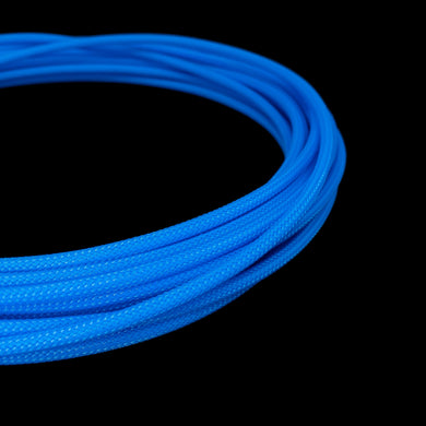 PET Cable Braided Sleeve - Blue - 5/32in (4mm)