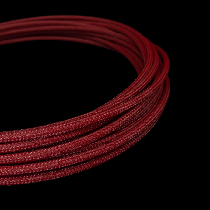 PET Cable Braided Sleeve - Dark Red - 5/32in (4mm)