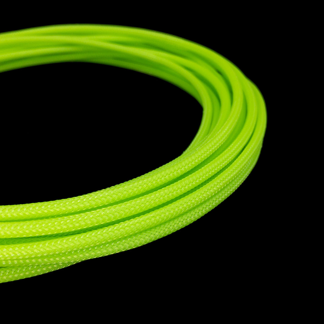 PET Cable Braided Sleeve - Mantis Green - 5/32in (4mm)