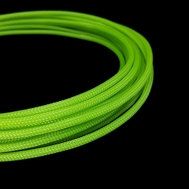PET Cable Braided Sleeve - NV Green - 5/32in (4mm)
