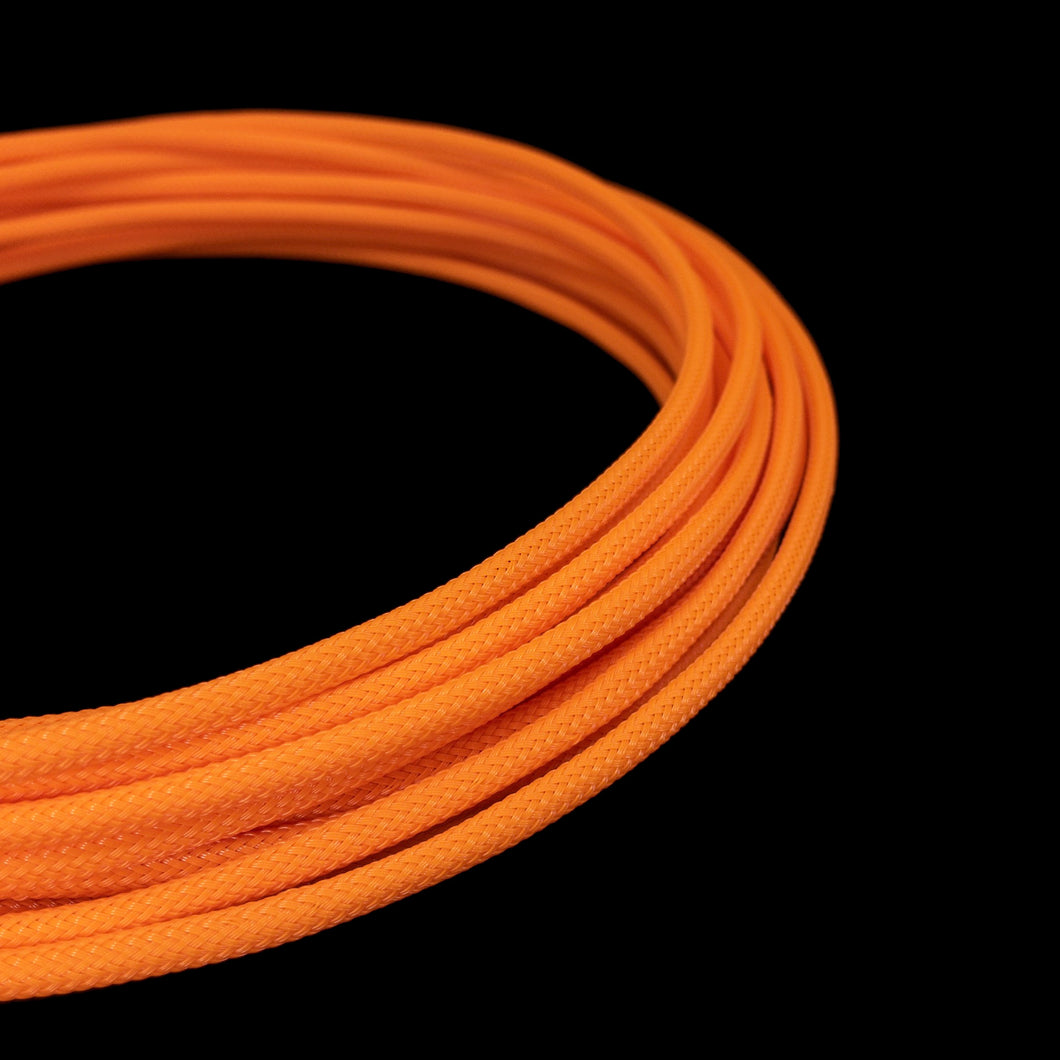 PET Cable Braided Sleeve - Orange - 5/32in (4mm)