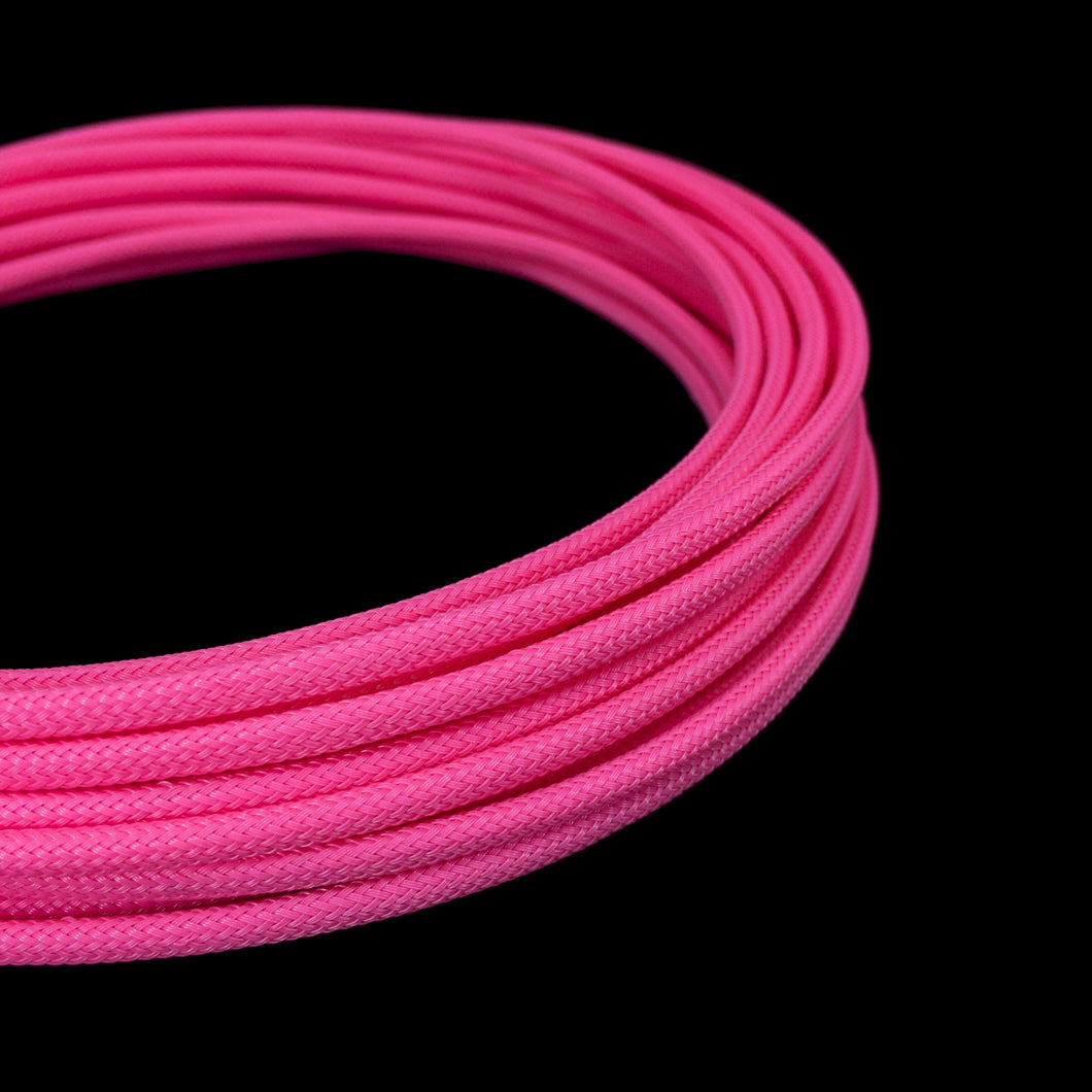 PET Cable Braided Sleeve - Passion Pink - 5/32in (4mm)