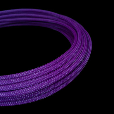 PET Cable Braided Sleeve - Purple - 5/32in (4mm)