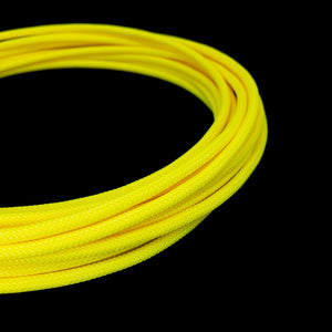 PET Cable Braided Sleeve - Shocker Yellow - 5/32in (4mm)