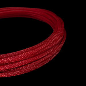 PET Cable Braided Sleeve - UV Red - 5/32in (4mm)