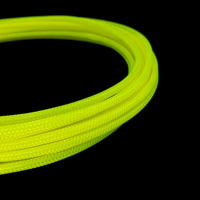 PET Cable Braided Sleeve - UV Yellow - 5/32in (4mm)