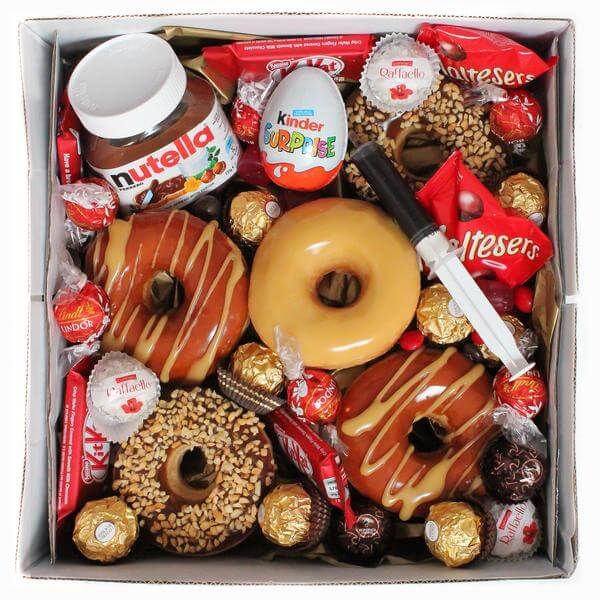 Glazed's classic gift box delivery with donuts and sweets