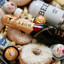 Load image into Gallery viewer, Champagne and beer sweet gift box delivery