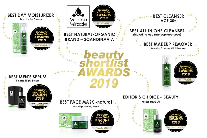 beauty short list awards voor marina miracle