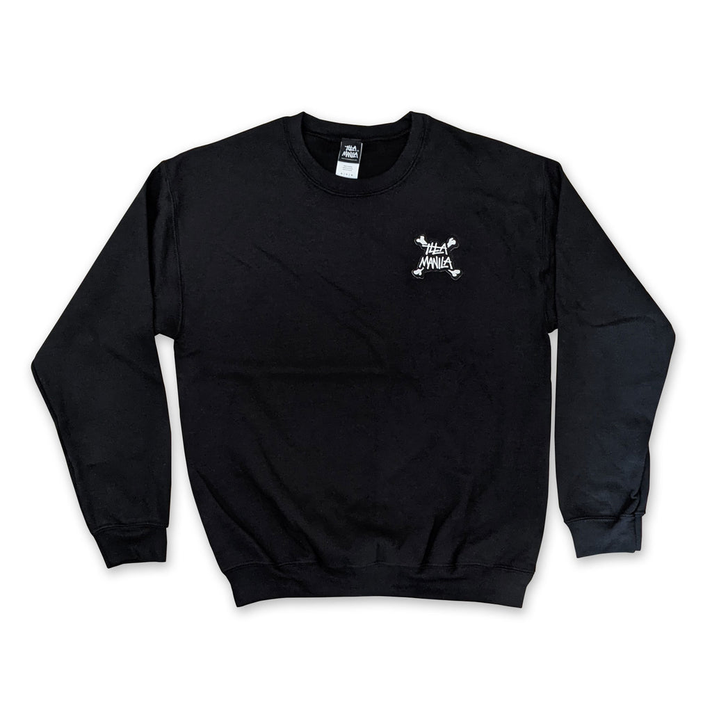 Bones Patch Crewneck Sweatshirt - Black