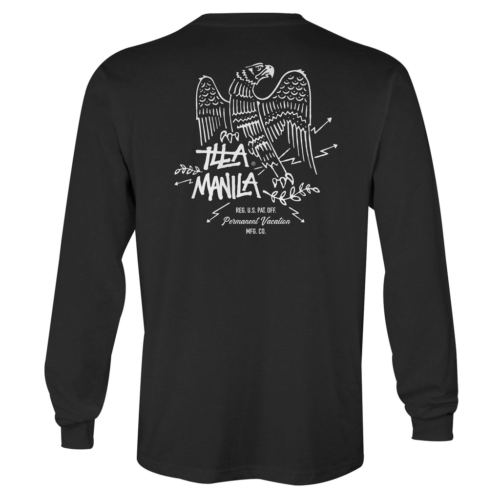 Lightning Eagle Long Sleeve T-shirt - Black