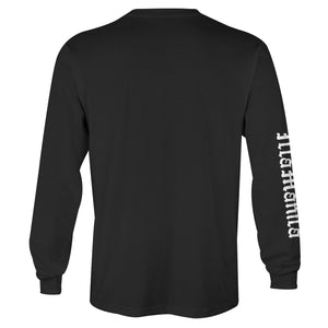 Fighting Cocks Long Sleeve T-shirt - Black