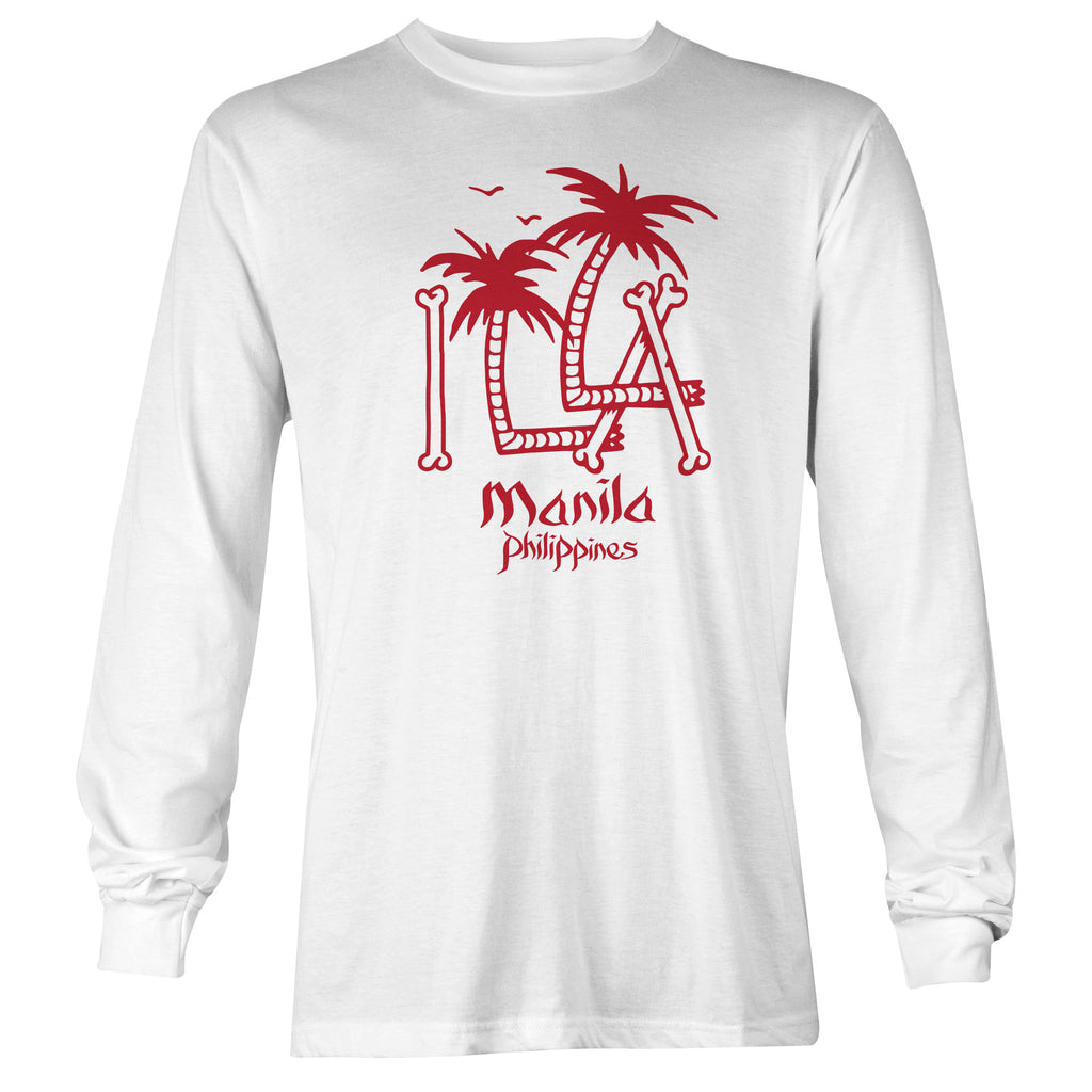 ILLA Palm Trees Long Sleeve T-shirt - White