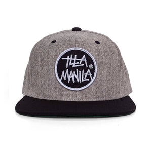 Circle Logo Snapback - Heather/Black