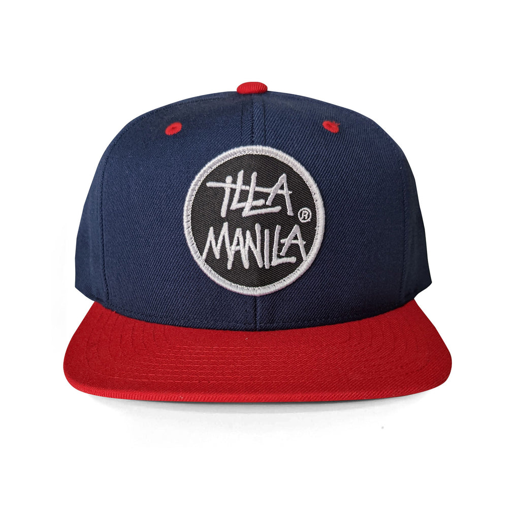 Circle Logo Snapback - Navy/Red