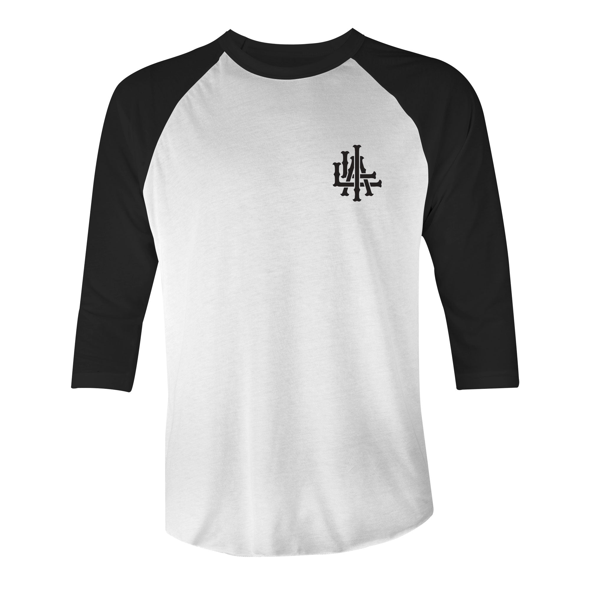 Permanent Vacation Raglan Baseball Tee - White/Black