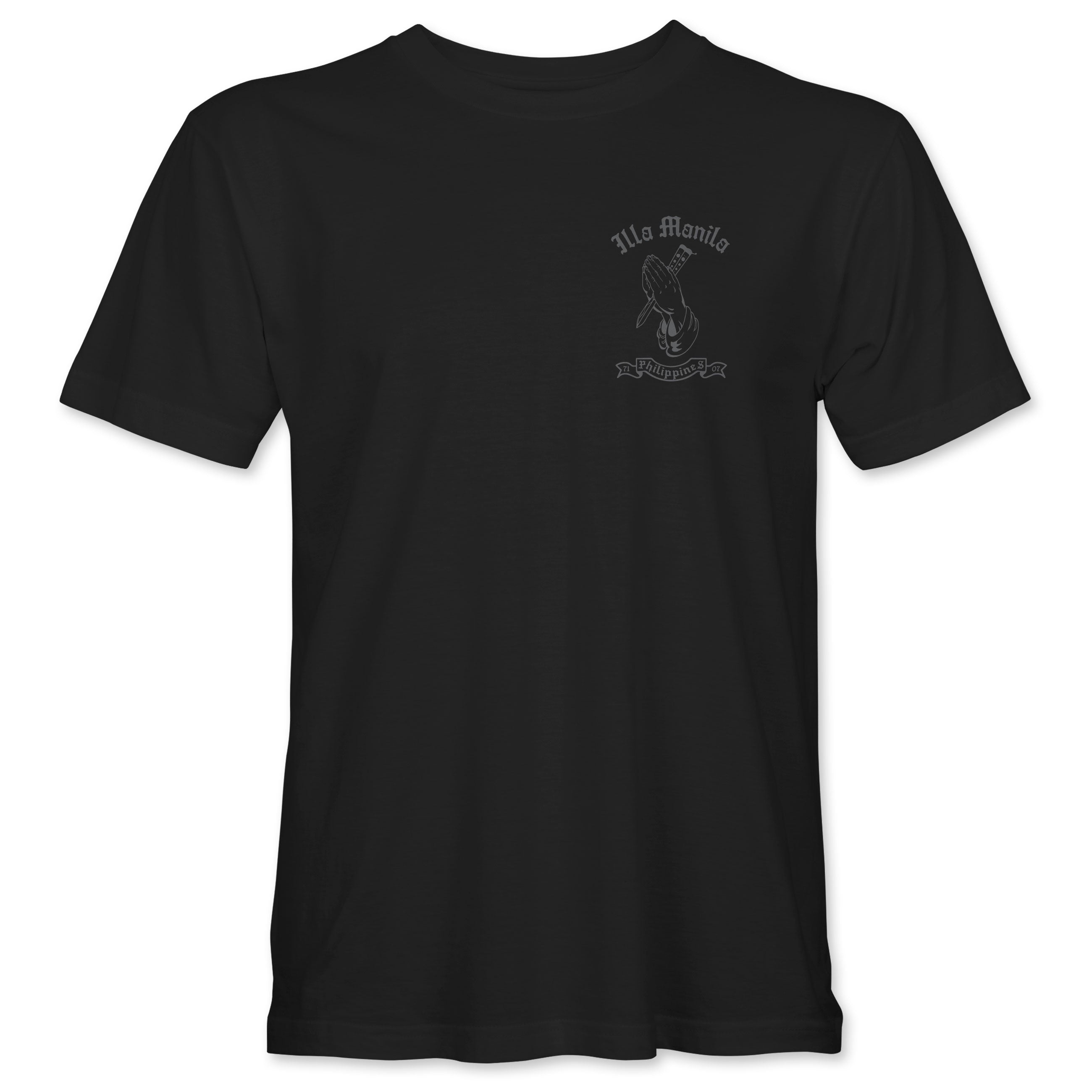 Praying Hands Balisong T-shirt - Gray/Black