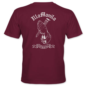 Praying Hands Balisong T-shirt - Maroon