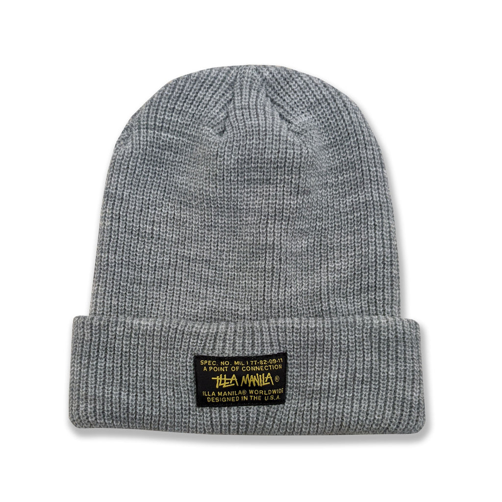 ILLA Spec Ribbed Knit Beanie - Heather Grey