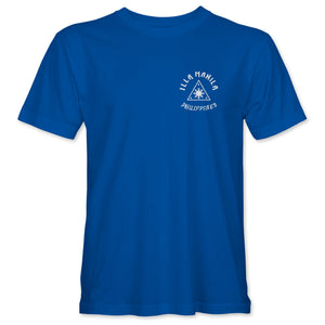Triangle Map T-shirt - Royal Blue