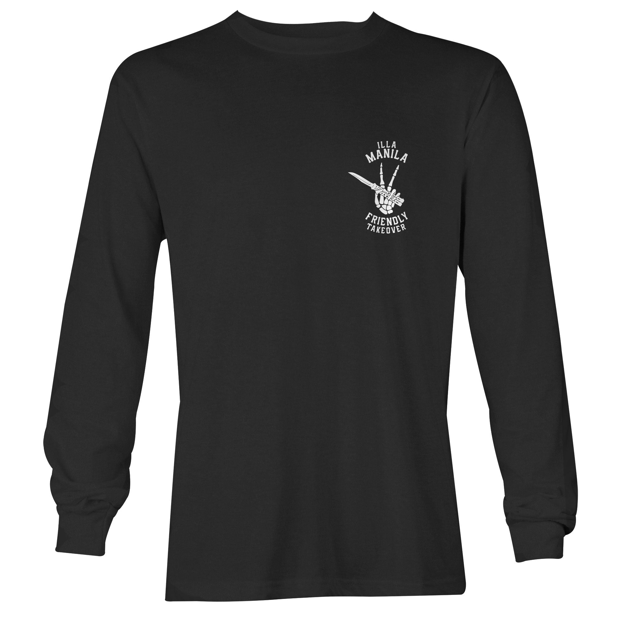 Friendly Takeover Long Sleeve T-shirt - Black