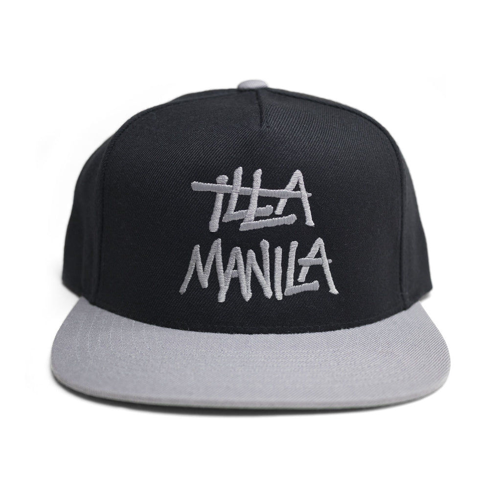 Large Logo Snapback - Black Gray