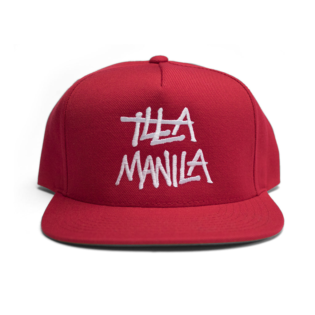 Large Logo Snapback - Red