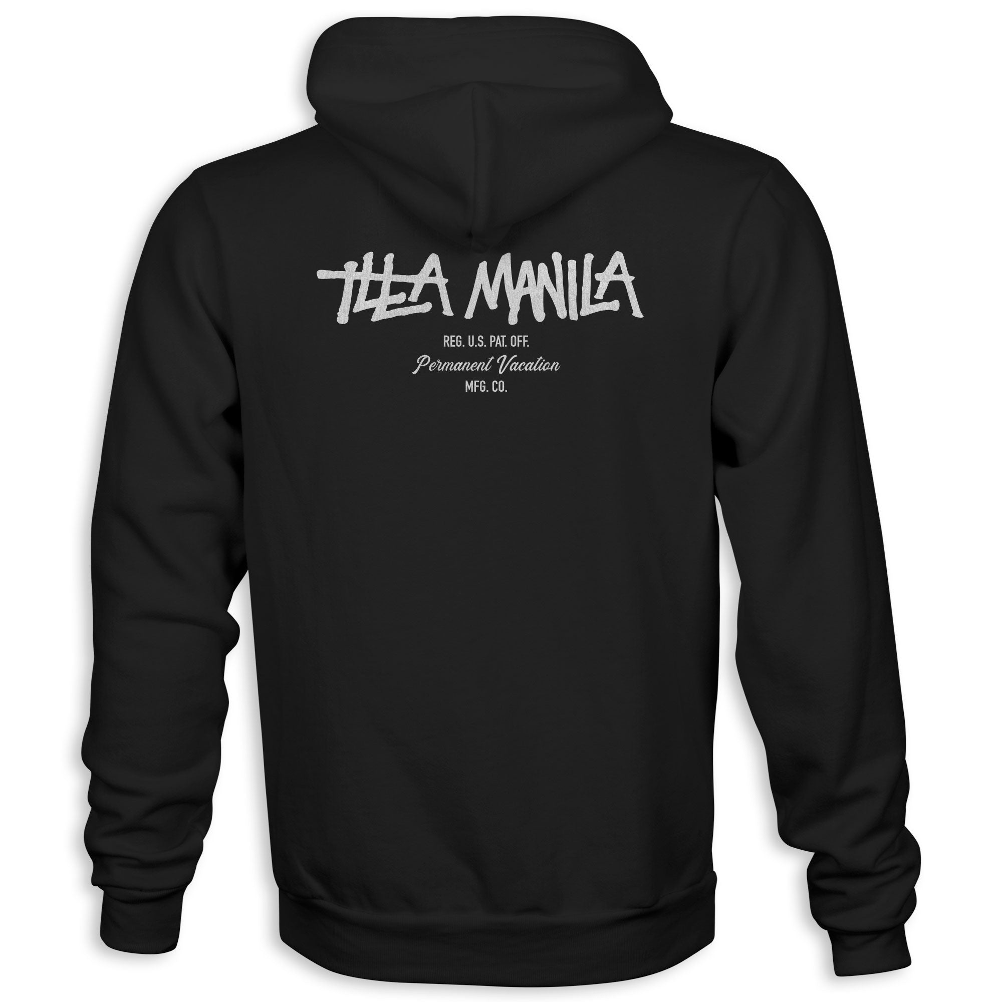Logo Permanent Vacation Heavy Weight Hoodie - Black