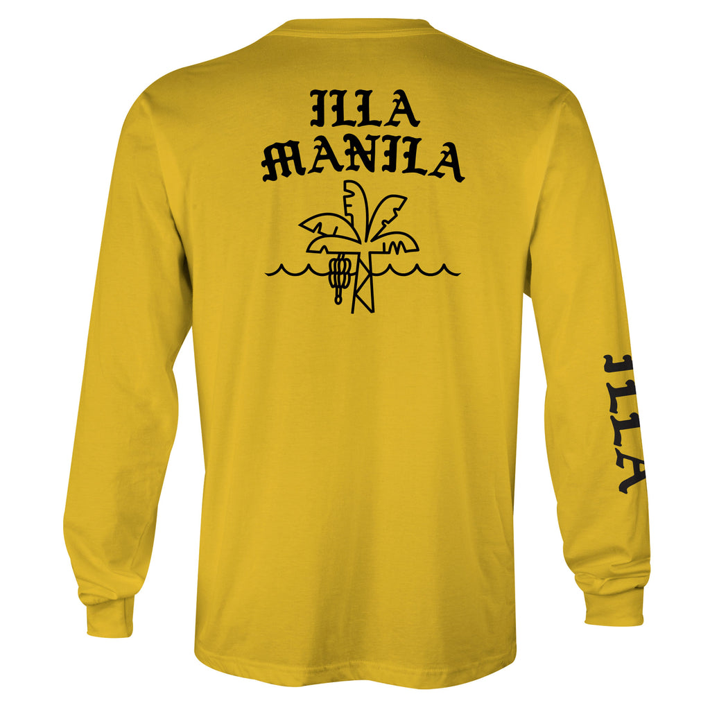 Paradise Long Sleeve T-shirt - Yellow