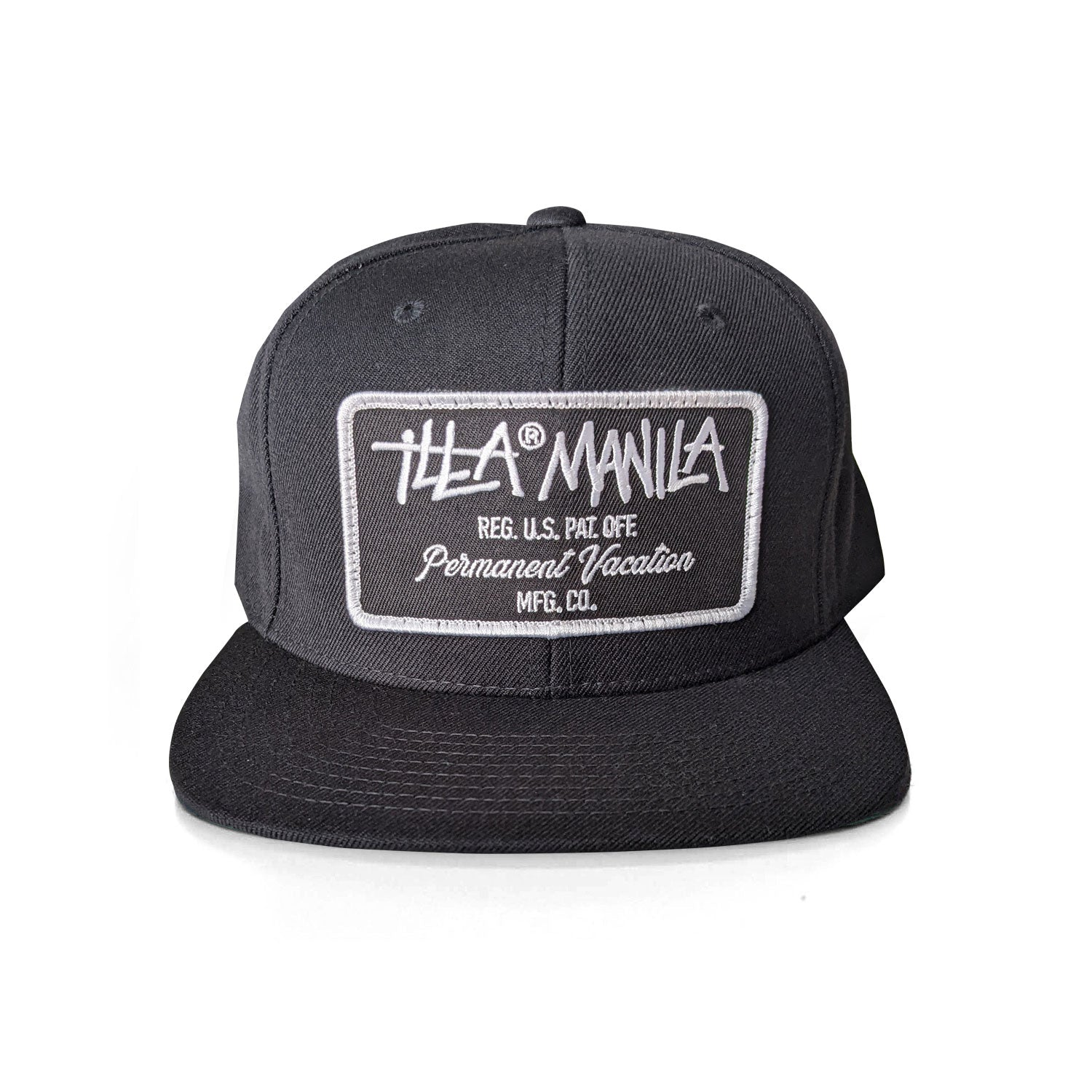 PV Rectangle Patch Snapback - Black