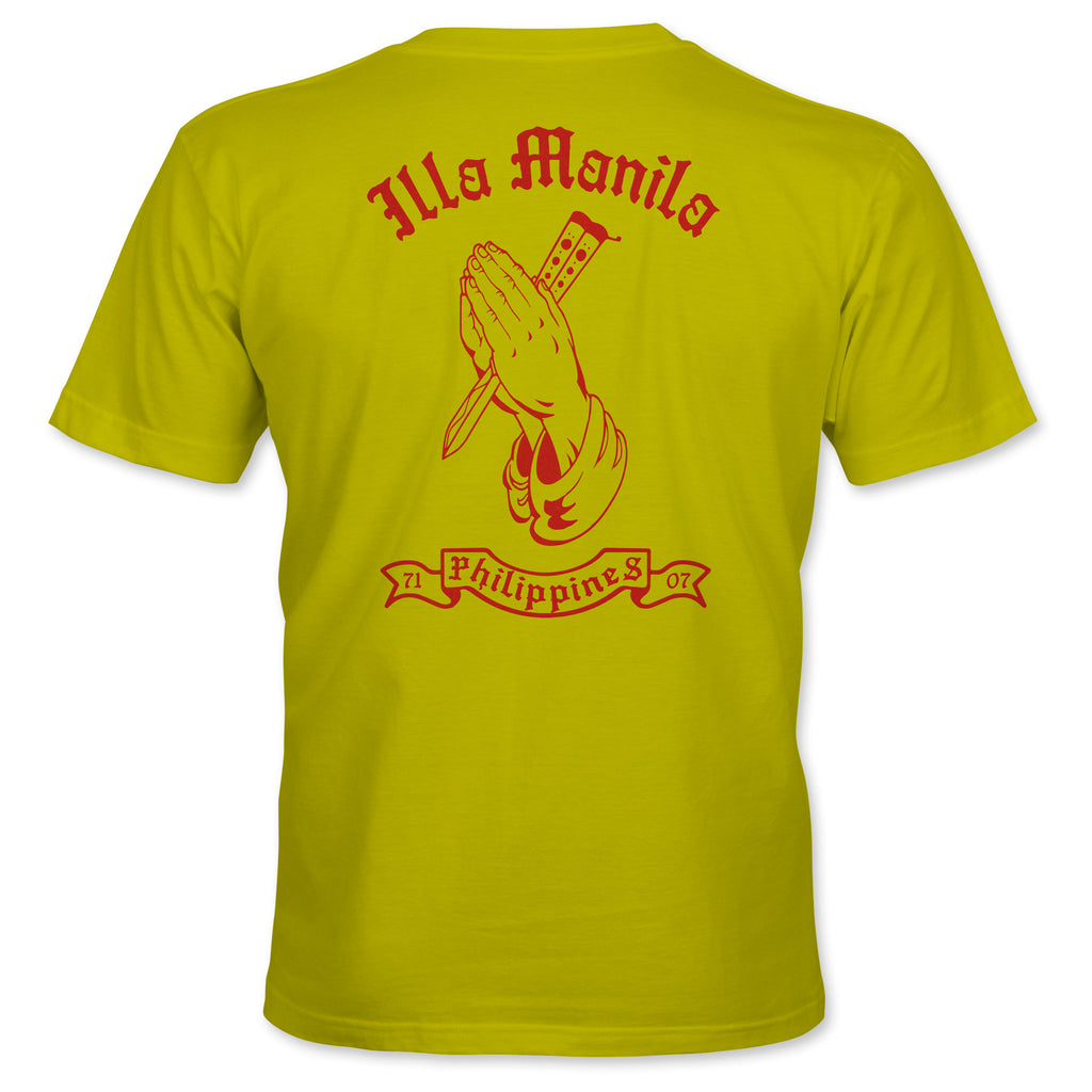 Praying Hands Balisong T-shirt - Yellow