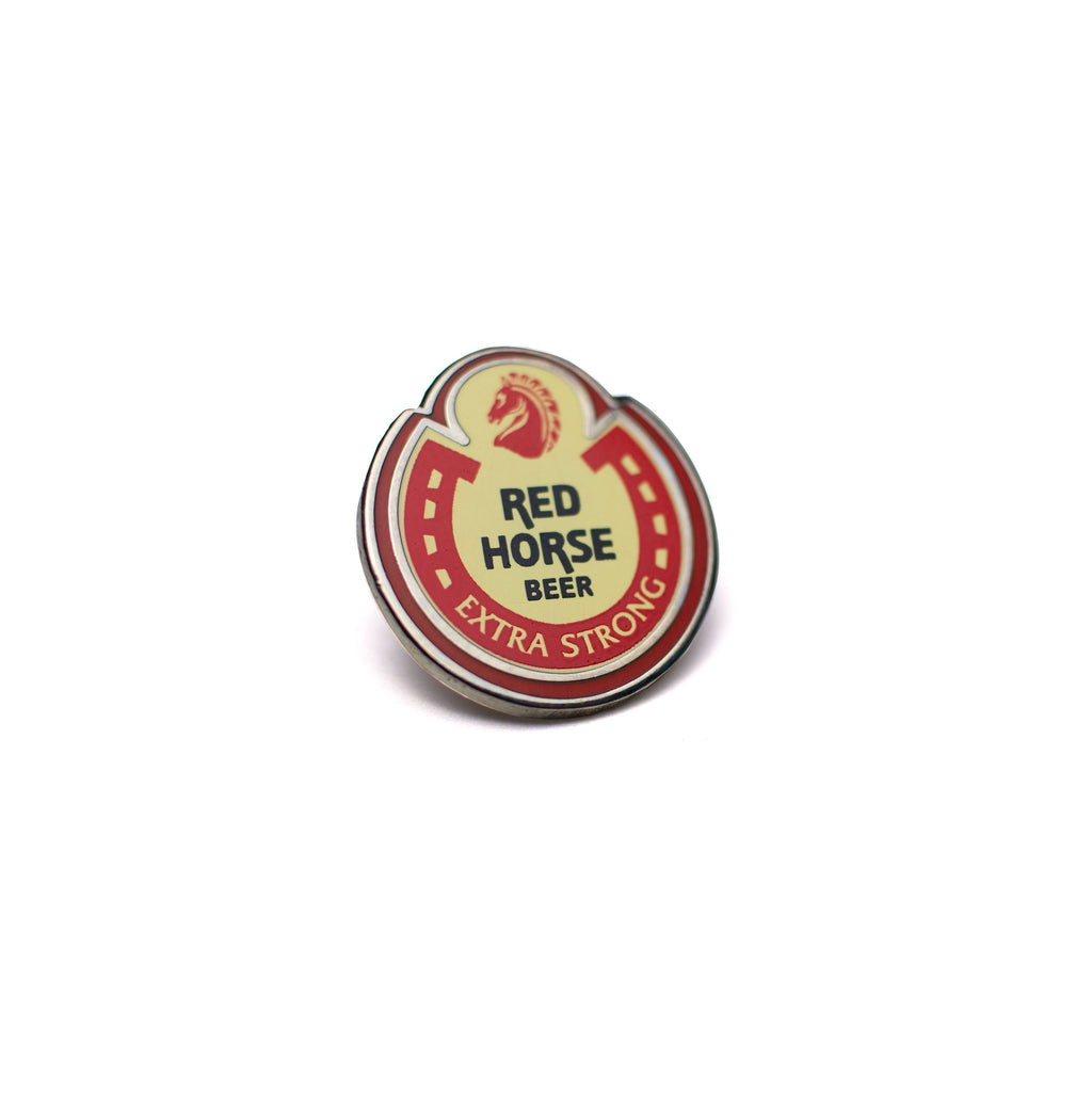 illa manila enamel pin red horse beer filipino