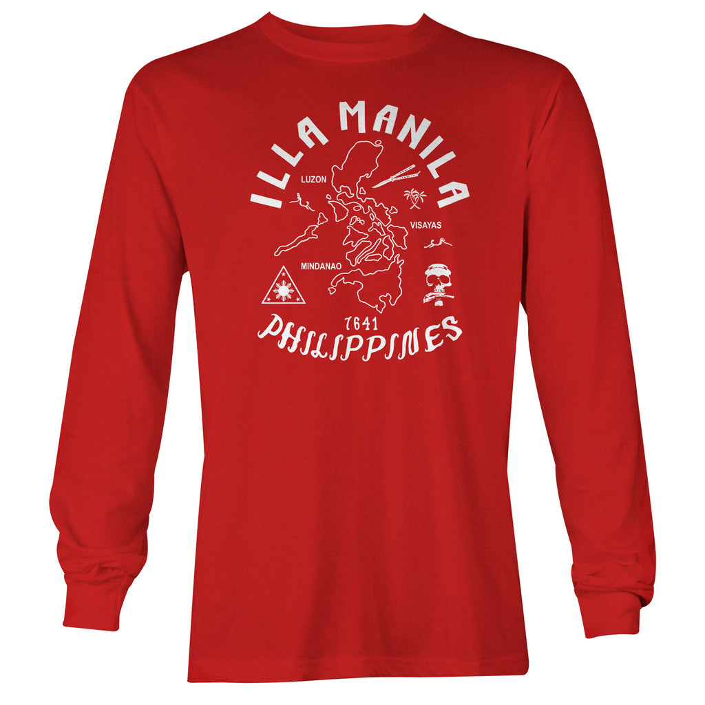 Triangle Map Long Sleeve T-shirt - Red