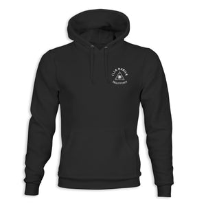 Triangle Map Heavy Weight Hoodie - Black