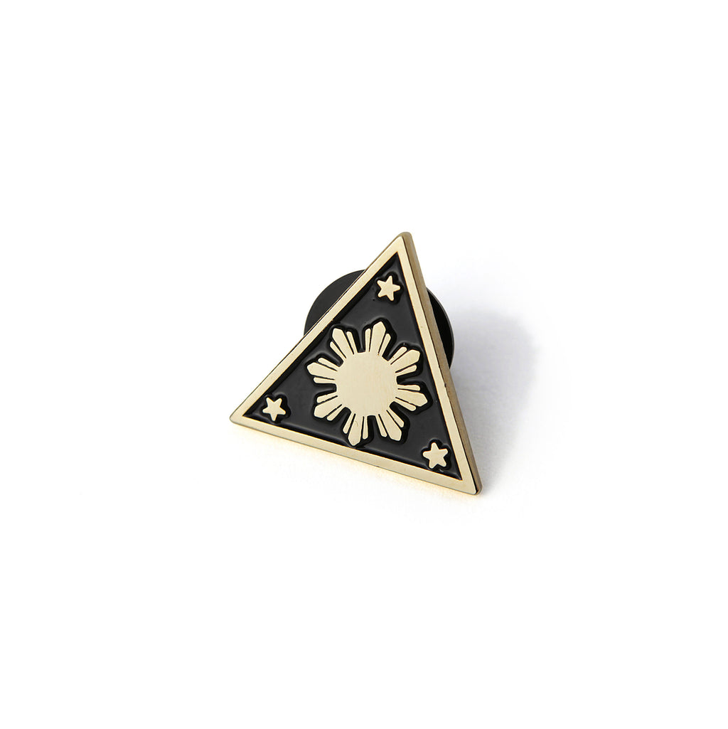 illa manila enamel pin philippine flag sun and 3 stars filipino