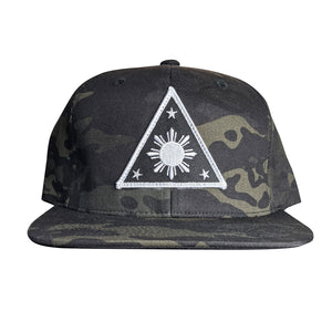 ILLA Triangle Sun Black/White Snapback - Black Multicam®