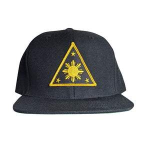 LLA Triangle Sun Black/Yellow Patch Snapback - BLACK