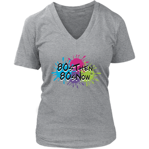 80sThen80sNow Women's V Neck