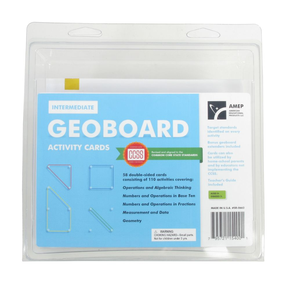 Geoboard Activity Cards Intermediate