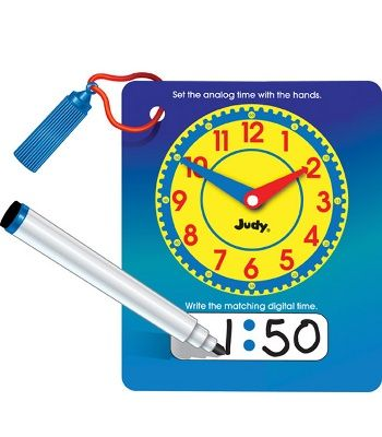 Wipe and Write Judy Clock for the Classroom