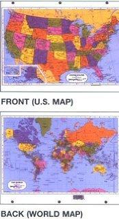 United States/World Map-3 ring
