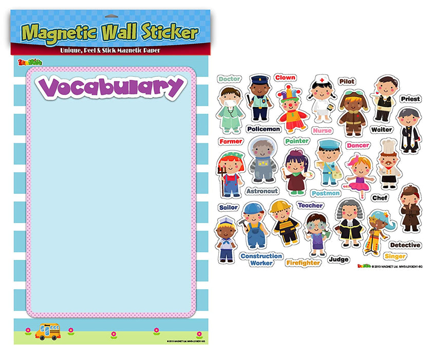 Magnetic Wall Sticker Vocabulary-Occupations, Verbs, Tools, St