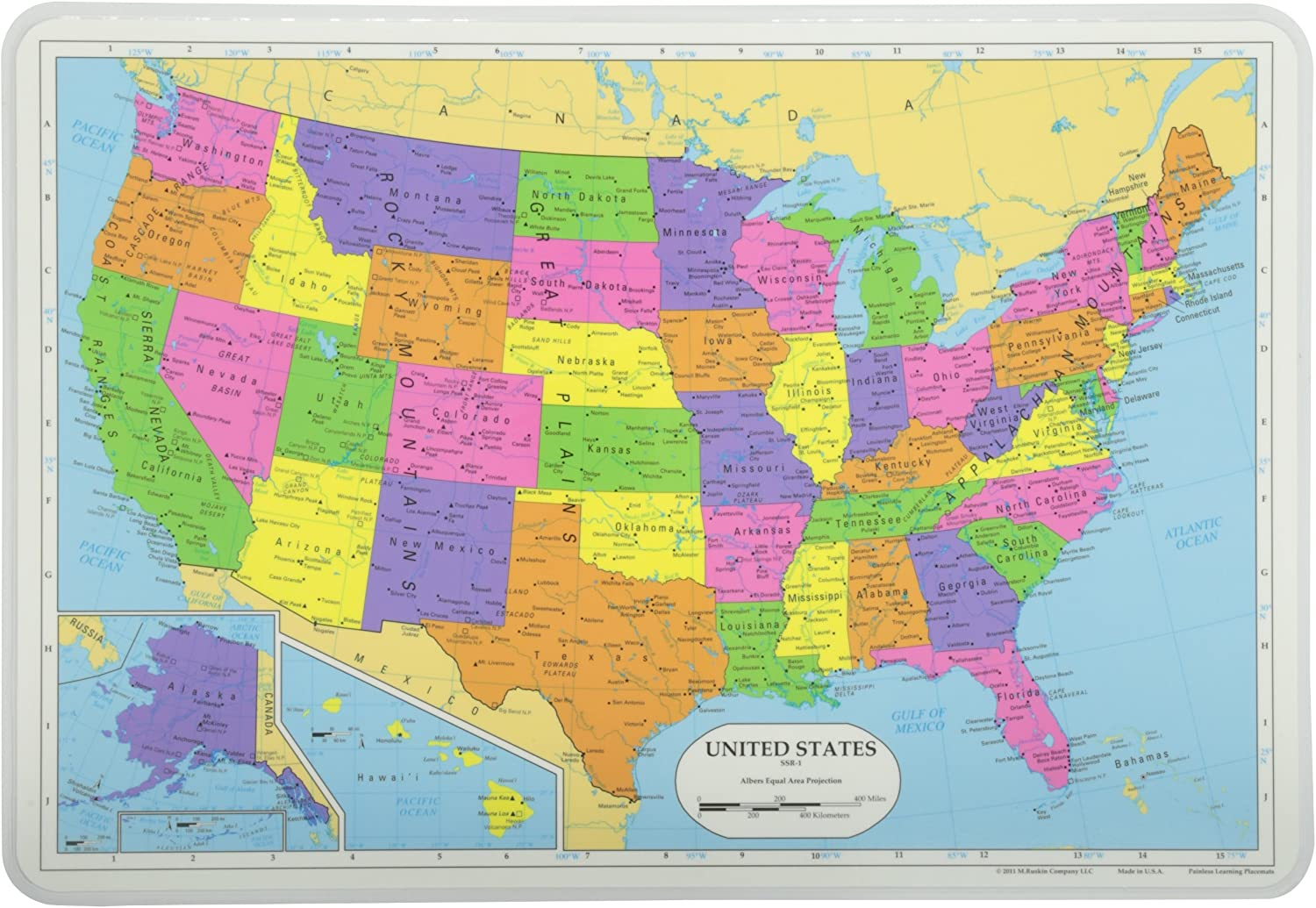 United States Map - mat