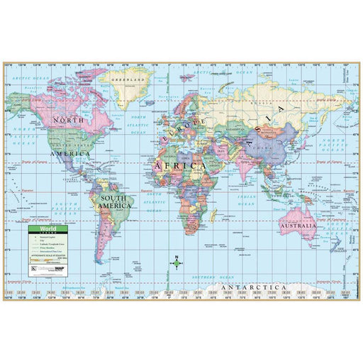 US Laminated - Rolled Map 48x36