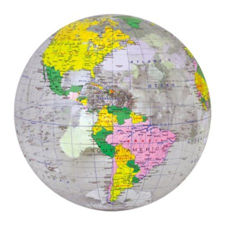 "16"" Transparent World Globe"