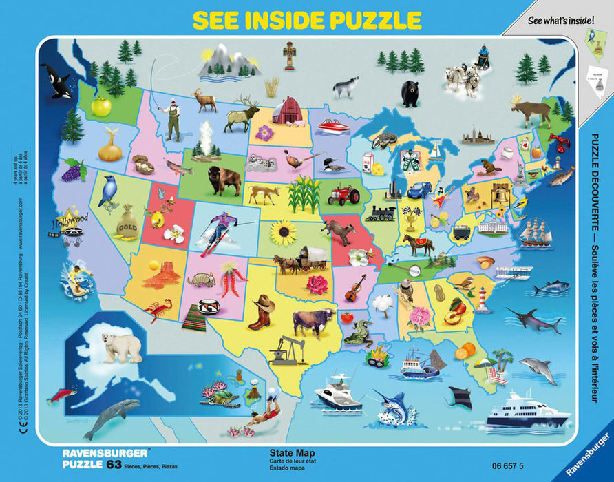 US State Map Border Puzzle