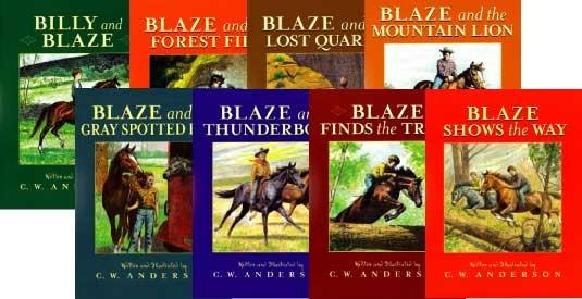Set of 8 Blaze Books