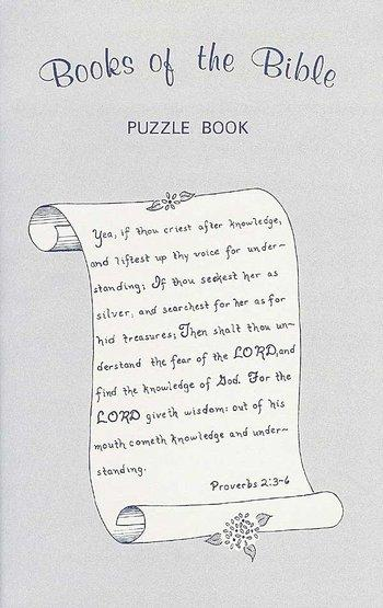Books of Bible Puzzle Book