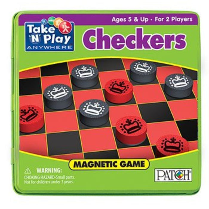 Magnet Game Tin Checkers