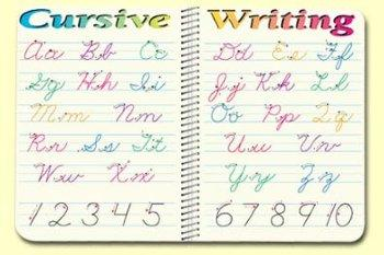 Cursive Writing - mat